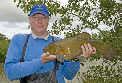 Tommy Burke geta a big tench